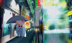 [Mcdull in the rain]